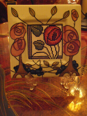 Old Tupton Ware Ceramic Frame Or Lightswitch Surround, Mackintosh Roses Art Deco • 8.99£