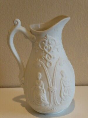 Miniature Parian Relief Moulded International Jug Brownfield Royale County • 8£