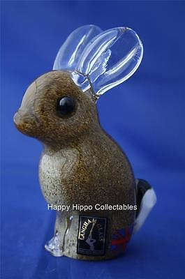 Langham Glass Hand-made Crystal Brown Rabbit - New / Boxed • 49.95£