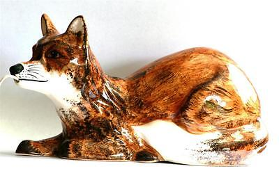 Fox Lying Babbacombe Pottery China String Holder Hand Painted Hunting Gift • 24.99£