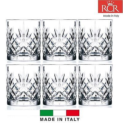 Set Of 6X RCR Italian Crystal Melodia Whiskey Glass Gift/Presentation Box 23cl • 14.95£