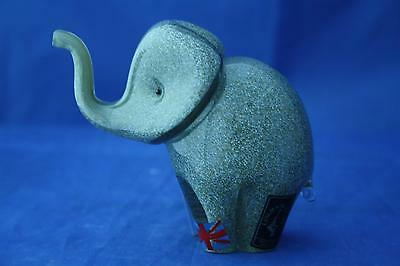 Langham Glass Crystal Hand Made Small Grey Elephant Figure New / Boxed • 42.95£