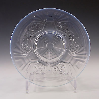 Jobling Art Deco Opaline/Opalescent Glass Flower Plate • 45£