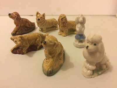 7 Wade Whimsies Dogs Corgi Poodles Spaniel Labrador Lovely Condtion • 10.95£
