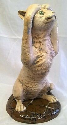 Moorcroft Cobridge Stoneware Kerfuffle Cat Figure - Animal Figurine Or Model • 274.99£