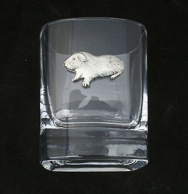 Guinea Pig Pair Of Crystal Tumblers Pewter Motif Presentation Gift Boxed 170 • 34.99£