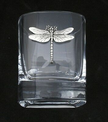 Dragonfly Pair Of Crystal Tumblers Pewter Motif Presentation Box Nature Gift 110 • 34.99£