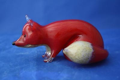 Langham Glass Hand-made Crystal Small Fox Stalking - New / Boxed • 42.95£