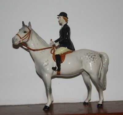 Vintage Beswick Huntswoman  In Excellent Condition With No Damage. On Grey Horse • 245£