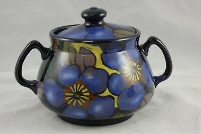 Royal Stanley Ware Jacobean Clematis Lidded Sugar Bowl Art Deco • 24.95£