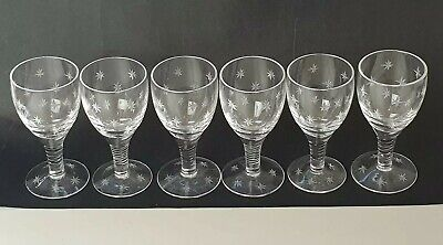 Stuart Crystal 'Star Time' Signed Liqueur/Sherry Glasses - Set Of 6  • 25£