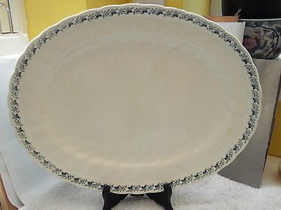 1914 Very Large Oval Minton Platter With A Blue Floral  Pattern   • 35.99£