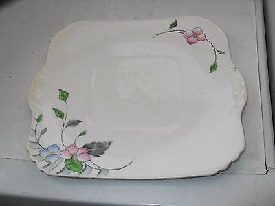 1928 - 41 Heathcote China [williamsons] Square Twin -handled Bread Plate • 25.99£