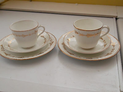 Two Trios With A Gold Coloured Pattern Believed To Be Vintage No Maker • 27.99£