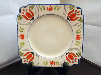 ? Vintage  Square Side Plate Stylistic Flowers  No Readable Backstamp • 25.99£