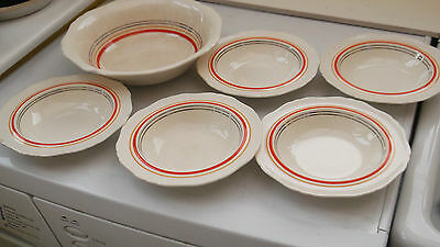 1912 - 37 S Hancocks Corona Ware  Large Bowl And Five Dessert Bowls    • 23.39£