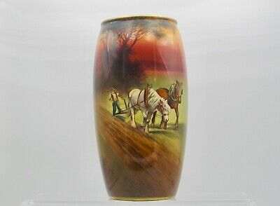Ovoid Cylindrical Vase By H. Morrey For Royal Doulton. • 250£