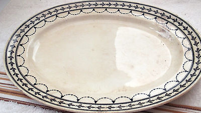 Small Minton Oval Platter In Grey / Black Fontainebleau Pattern  A/f    • 12.99£