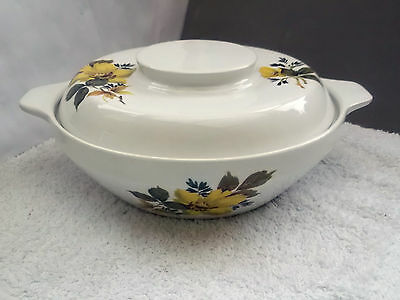 Royal Tudor Ware, Barker Bros, Lidded Tureen With A Yellow Flower Pattern • 20.99£
