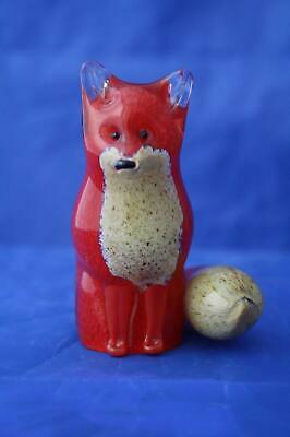 Langham Glass Hand-made Crystal Small Fox Sitting - New / Boxed • 42.95£