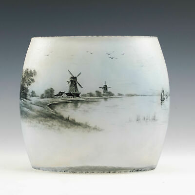 Daum Nancy Dutch Landscape Vase C1900 • 950£
