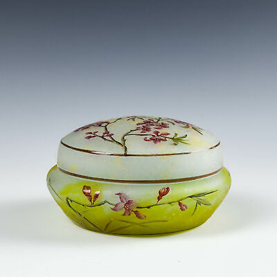 A Daum Nancy Cameo Glass Powder Box C1900 • 1,750£