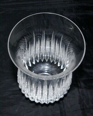 Vintage Art Deco Crystal Hand Cut Storm Hurricane Candle Lamp Shade 6  • 30£