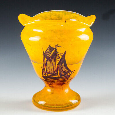 Rare Enamelled Vase Attributed To Georges Rouard C1925 • 345£