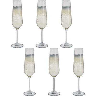 Dartington Crystal Select Pack Of Six Flute Glasses In A Box • 14.99£