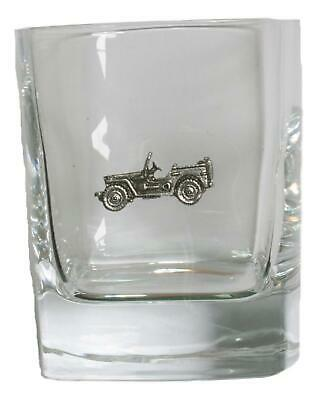 Jeep Pair Of Crystal Tumblers Pewter Motift Presentation Box 433 • 34.99£