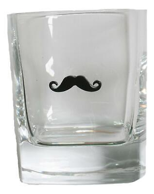 Moustache Pair Of Crystal Tumblers Pewter Motift Presentation Box 467 • 34.99£