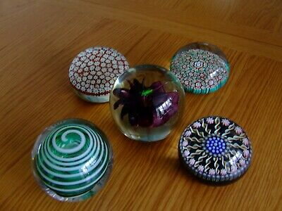 Job Lot Of Vintage Paper Weight Baccarat Perthshire Langham Glass Murano1960's • 100£