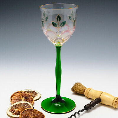 Theresienthal Enamelled Wine Glass C1905 • 210£