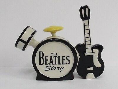 Lorna Bailey The Beatles Story Teapot Black Guitar Signed On Base • 134.99£