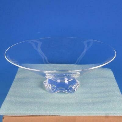Signed Steuben Crystal Art Glass - Footed Centerpiece Bowl - 12 Inches • 115.40£
