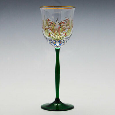 Theresienthal Enamelled Wine Glass C 1905 • 205£