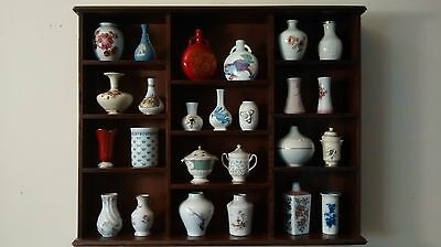 Miniature Pottery Vases In Display Cabinet • 125£