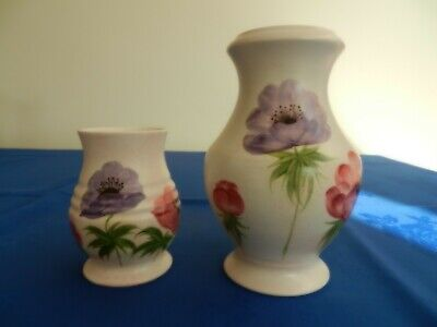 Radford Hand Painted Vases Anemonies No 1055 And No 668 • 14.99£