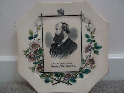 Antique Marquis Of Salisbury Commemorative Plate • 14.95£