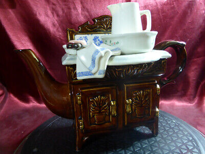 Paul CARDEW Collectible Novelty VICTORIAN WASHSTAND TEAPOT Wash Stand Tea Pot • 39.99£