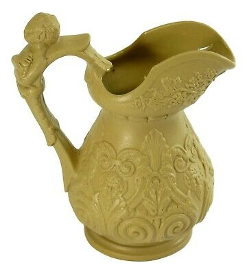 RIDGWAY - Relief Moulded DRABWARE Jug BACCHUS & PAN - 5 1/2  Tall - C1830 • 39.99£