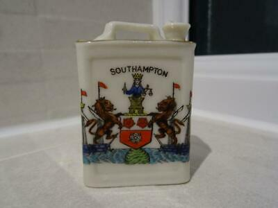 Rare Arcadian Crested China Jerry Can - Arms Of Southampton • 125£