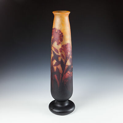 A Very Tall Daum Nancy Vase C1910 • 3,000£