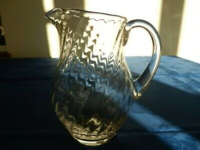 Vintage Dartington Large Ripple Lead Crystal Jug • 19.99£