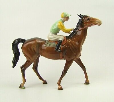 Beswick Racehorse And Jockey (Walking Racehorse) - 1037 - Made In England. • 375£