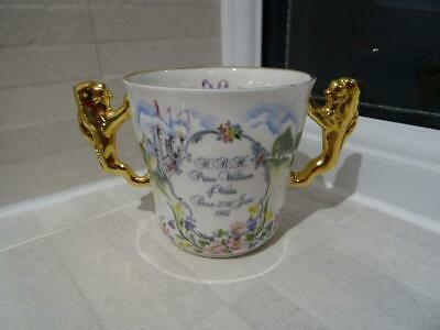 Paragon Loving Cup 1982 Birth Of Prince William - Gilded Lion Handles • 9.50£