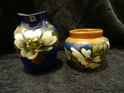Watcombe Pottery Floral Pattern Small Baluster Vase Plus One Other • 9.95£