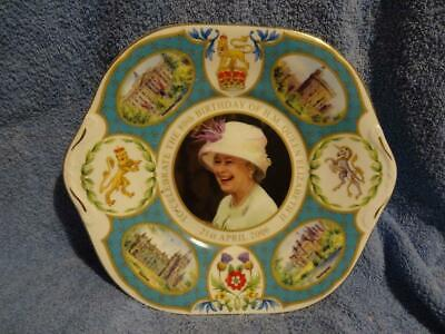 Aynsley Peter Jones Commemorative Sandwich Plate 80th Birthday Of Elizabeth II • 12.95£