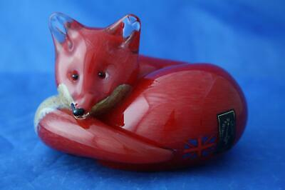 Langham Glass Hand-made Crystal Medium Fox At Rest - New / Boxed • 54.95£
