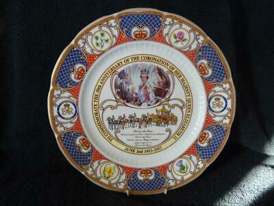 Aynsley 1993 Plate - 50th Anniversary Of The Coronation Of Elizabeth II (2) • 8.95£